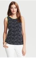 Banana Republic Piped Lace Shell in Navy - Lyst