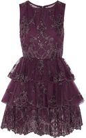 Alice + Olivia Rowley Ruffled Tulle and Organza Mini Dress - Lyst