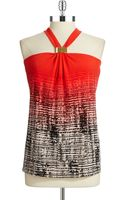 Calvin Klein Ombre Patterned Halter Top - Lyst