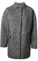 MSGM Herringbone Coat - Lyst
