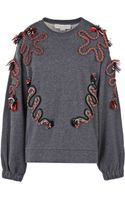 Stella McCartney Squiggle Cord Jumper - Lyst