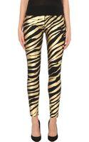 Hudson Nico Metallic Zebra-print Super-skinny Mid-rise Jeans - Lyst
