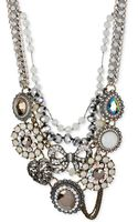 Betsey Johnson Mixed Bow  Crystal Frontal Statement Necklace - Lyst