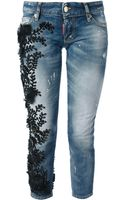 DSquared2 Bead Embroidered Jean - Lyst