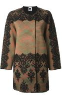 M Missoni Lace Panel Coat - Lyst