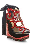 Charlotte Olympia The Great Wedge Of China Embellished Platform Wedge Sandals - Lyst