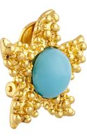 Kenneth Jay Lane Goldtone Cabochon Clip Earrings - Lyst