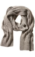 Banana Republic Textured Scarf - Natural - Lyst