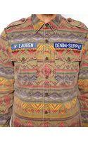 Ralph Lauren Denim Supply Ralph Lauren Tribal Print Shirt with Camo Lining - Lyst