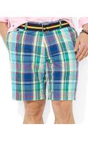 Polo Ralph Lauren Polo Classicfit Hudson Madras Shorts - Lyst