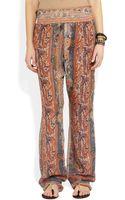 Isabel Marant Sydney Printed Silkgauze Wideleg Pants - Lyst