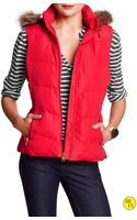 Banana Republic Factory Faux Fur Puffer Vest  Pure Red - Lyst