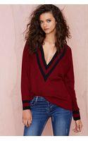 Nasty Gal Boys Club Sweater - Burgundy - Lyst