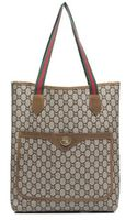 Gucci Pre-owned Plus Brown Monogram Canvas Vintage Tote Bag - Lyst