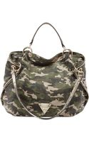 Guess Dylan Canvas Satchel - Lyst