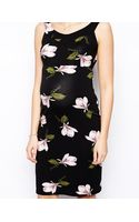 Asos Maternity Bardot Dress in Orchid Print - Lyst