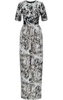 Prabal Gurung Pleated Metallicjacquard Gown - Lyst