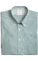 Brooks Brothers Supima Cotton Noniron Regular Fit Gingham Shortsleeve Sport Shirt - Lyst