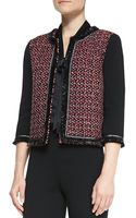 St. John Milano Knit 3/4 Sleeve Jacket - Lyst