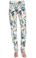 Carolina Herrera Botanical Printed Straight-leg Pants - Lyst