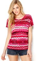 Kensie Zigzag Striped Top - Lyst