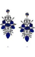 Noir Jewelry Silverplated Crystal Earrings - Lyst