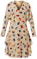 Chloé Memphis Geometricprint Silk Dress - Lyst