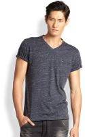 Diesel Spotted V-neck Tee - Lyst