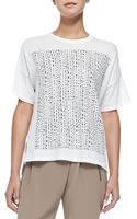 Vince Short-sleeve Tee W Tribal-print Square - Lyst
