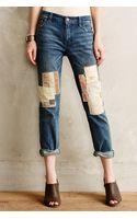 Pilcro Premium Hyphen Patchwork Jeans - Lyst