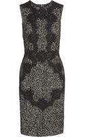 Dolce & Gabbana Laceappliquã Woolblend Tweed Dress - Lyst