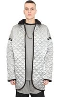 Astrid Andersen Quilted Techno Satin Jacket - Lyst