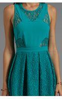Stylestalker Bball Lace Dress in Teal - Lyst