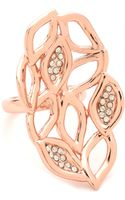 Alexis Bittar Crystal Watery Link Ring Rose Gold - Lyst