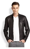 Michael Kors Leather Moto Jacket - Lyst