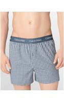 Calvin Klein Micro Plaid Woven Slim Fit Boxers - Lyst