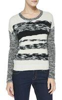 Autumn Cashmere Mixedyarn Cashmere Knit Sweater - Lyst