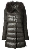 Duvetica Fur Trim Padded Coat - Lyst