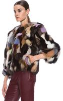 MSGM Patchwork Fox Jacket - Lyst