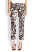 Rag & Bone Leopard-print Slim Boyfriend Jeans - Lyst