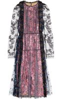 Lanvin Glittered Tulle and Lamã Dress - Lyst