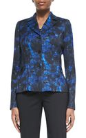 Lafayette 148 New York Polly Printed Peplum Jacket - Lyst