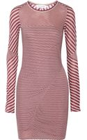 Etoile Isabel Marant Striped Cotton Jersey Mini Dress - Lyst