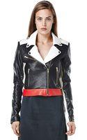 Again Bowie Lamb Skin Moto Jacket - Lyst