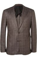 Hardy Amies Slim-fit Prince Of Wales Check Wool Silk and Cashmere-blend Suit Jacket - Lyst