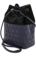 Reece Hudson Haircalf Bowery Small Bucket Bag - Inkblack - Lyst