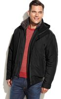 Weatherproof Ultra Oxford Hooded Faux-fur-collar Bomber - Lyst