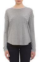 Vince Striped Jersey Longsleeve T-shirt - Lyst