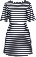 Topshop Satin Stripe A-Line Dress  - Lyst