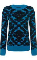 House Of Holland Brocade Knit Sweatshirt - Lyst
